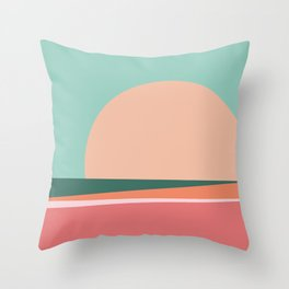 Sunset / Miami Throw Pillow
