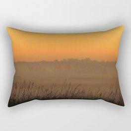 Foggy Prairie Fall Sunrise Rectangular Pillow