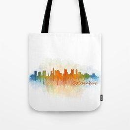 Columbus Ohio, City Skyline, watercolor  Cityscape Hq v3 Tote Bag
