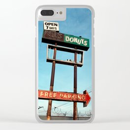 Bill's Donuts Clear iPhone Case