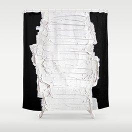 Black, White & White Shower Curtain