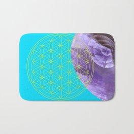 Mystical Flower of Life Amethyst #society6 Bath Mat