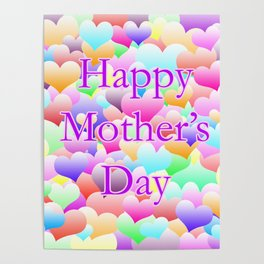 Mother's Day Hearts Light Poster