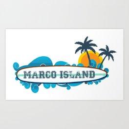 Marco Island. Art Print