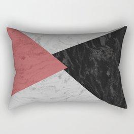 MARBLE TRIANGULES Rectangular Pillow