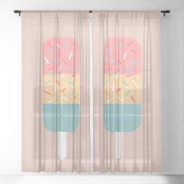 Popsicle (Peach) Sheer Curtain