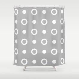 Polka Dot Pattern 243 Grey Shower Curtain