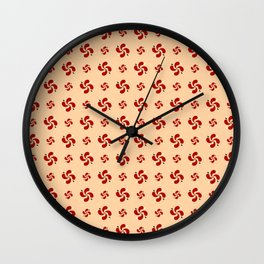 Triskele 18-ceramic colors Wall Clock
