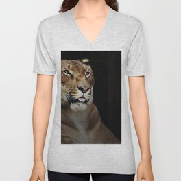 Hercules the liger half lion half tiger Unisex V-Neck