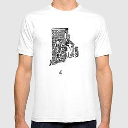 Typographic Rhode Island T-shirt