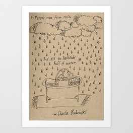 Bathtubs and Bukowski Art Print