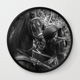 Friesian horses Wall Clock