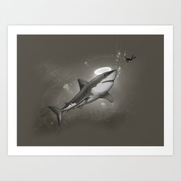 HOLY SHARK! Art Print