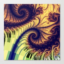 Abstract spirals and patterns Canvas Print