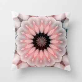 Baby Pink Daisy in Dimension Throw Pillow