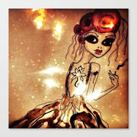 sassy Canvas Prints featuring Sassy by Sanoe Watt