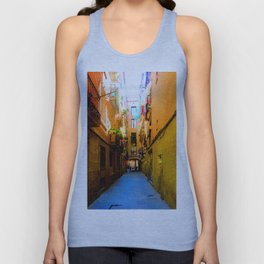 Barcelona Alley, #1 Unisex Tank Top