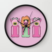 muppets Wall Clocks featuring Mahna Manha – The Muppets by Big Purple Glasses