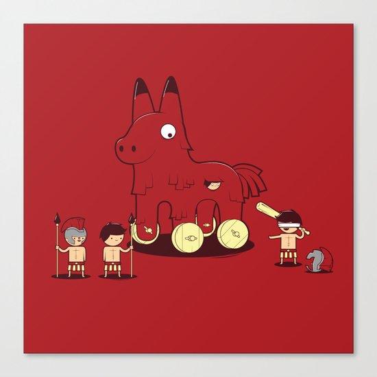 Trojan Piñata Canvas Print