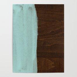 Seafoam Blue Paint on Wood Poster