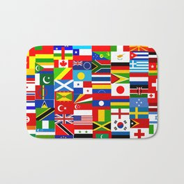Flag Montage Bath Mat