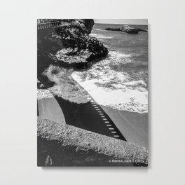 Film Strip Silhouette Metal Print