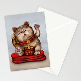 Maneki-neko Beckoning cat Stationery Cards