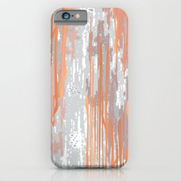 Abstract ink. Gray. metallic. orange. abstract. .minimalist. line. minimalism. lines. iPhone Case