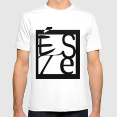 LOGO ESTE SMALL White Mens Fitted Tee