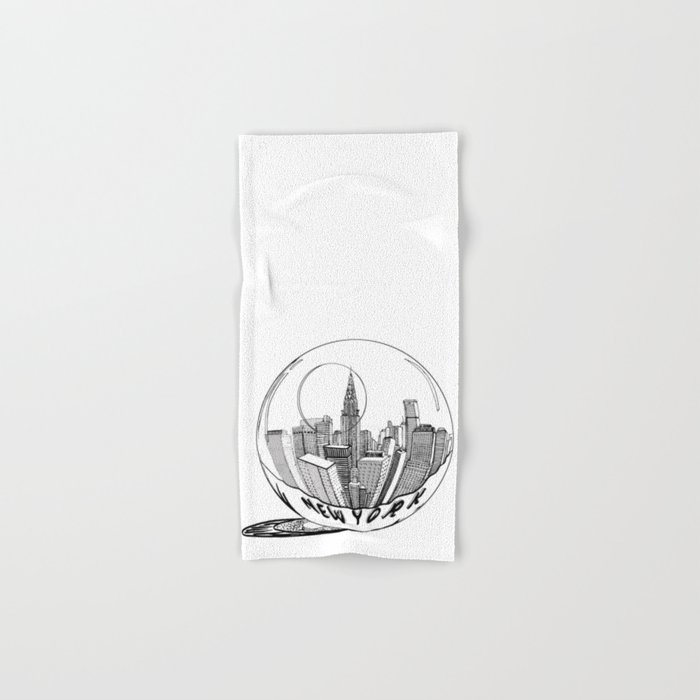 New York in a glass ball (  https://society6.com/vickonskey/collection ) Hand & Bath Towel