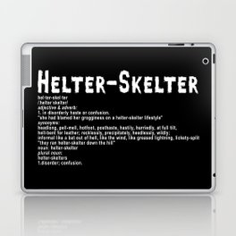 Helter Skelter (white on black) Laptop & iPad Skin