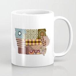 Iowa State Map Coffee Mug
