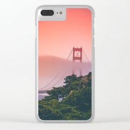 Foggy Golden Gate Clear iPhone Case