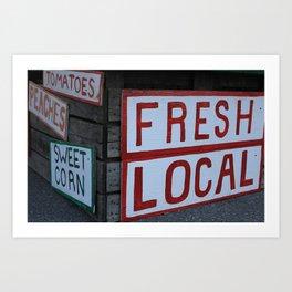 Eat Local Art Print