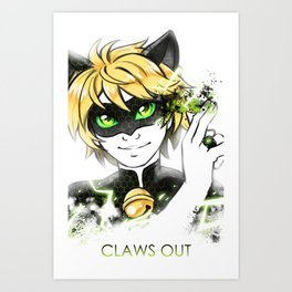 Claws Out! Art Print