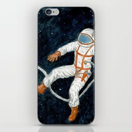 Astronaut Floating Through Space iPhone Skin