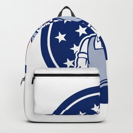 American Plumber and Pipefitter USA Flag Icon Backpack