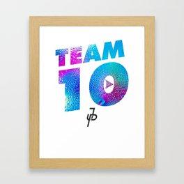Jake Paul Waterdrop Team 10 JP Framed Art Print
