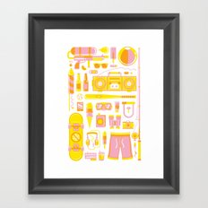 Summer Jawns Framed Art Print