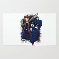 doctor who Area & Throw Rugs featuring Doctor Who by Lucy Fidelis