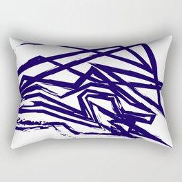 Brush Line Pattern Rectangular Pillow