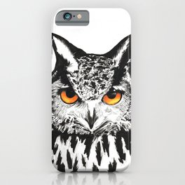 Fire-Eyed Owl iPhone Case