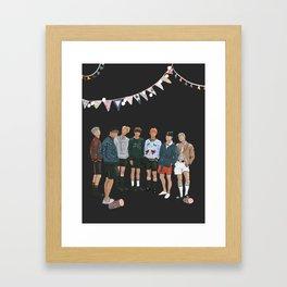 BTS Young Forever Pattern - Black Framed Art Print