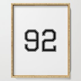 Number 92 American Football, Soccer, Sports Design Serving Tray