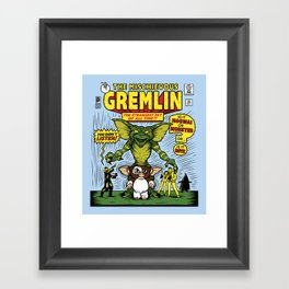 The Mischievous Gremlin Framed Art Print