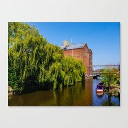 Historic Flour Mill. Canvas Print
