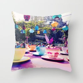 Teacups Throw Pillow