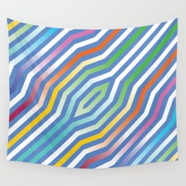 Symmetric diagonal stripes background 9 Wall Tapestry