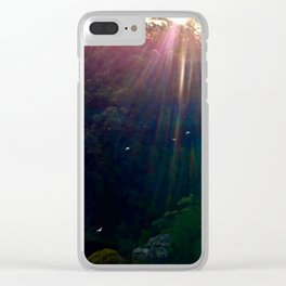 Whimsical Blue Mountains Clear iPhone Case