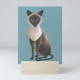 Cinnamon, Siamese Cat Mini Art Print